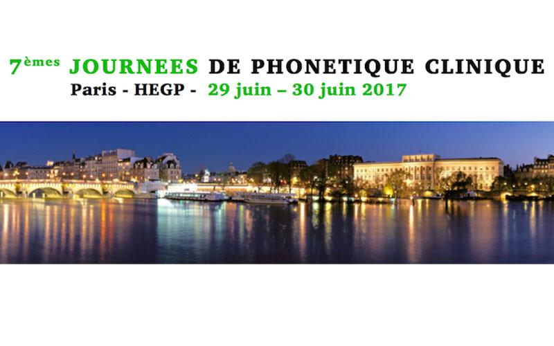7e Journées de Phonétique Clinique – Paris – 29 et 30 juin 2017