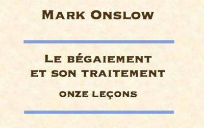 Conférence en ligne du Pr. Mark Onslow – 25 février 2021 à 21h00 sur YouTube