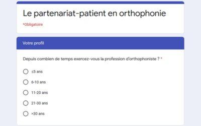 Enquête sur le partenariat-patient en orthophonie